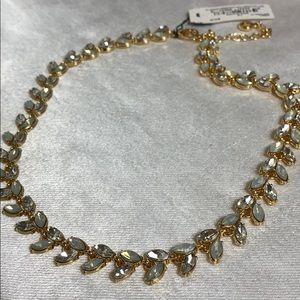Anne Klein white crystal necklace